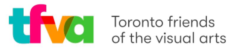 Toronto Friends of the Visual Arts logo